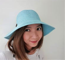 Load image into Gallery viewer, 'Back To Basic' Foldable Straw Hat
