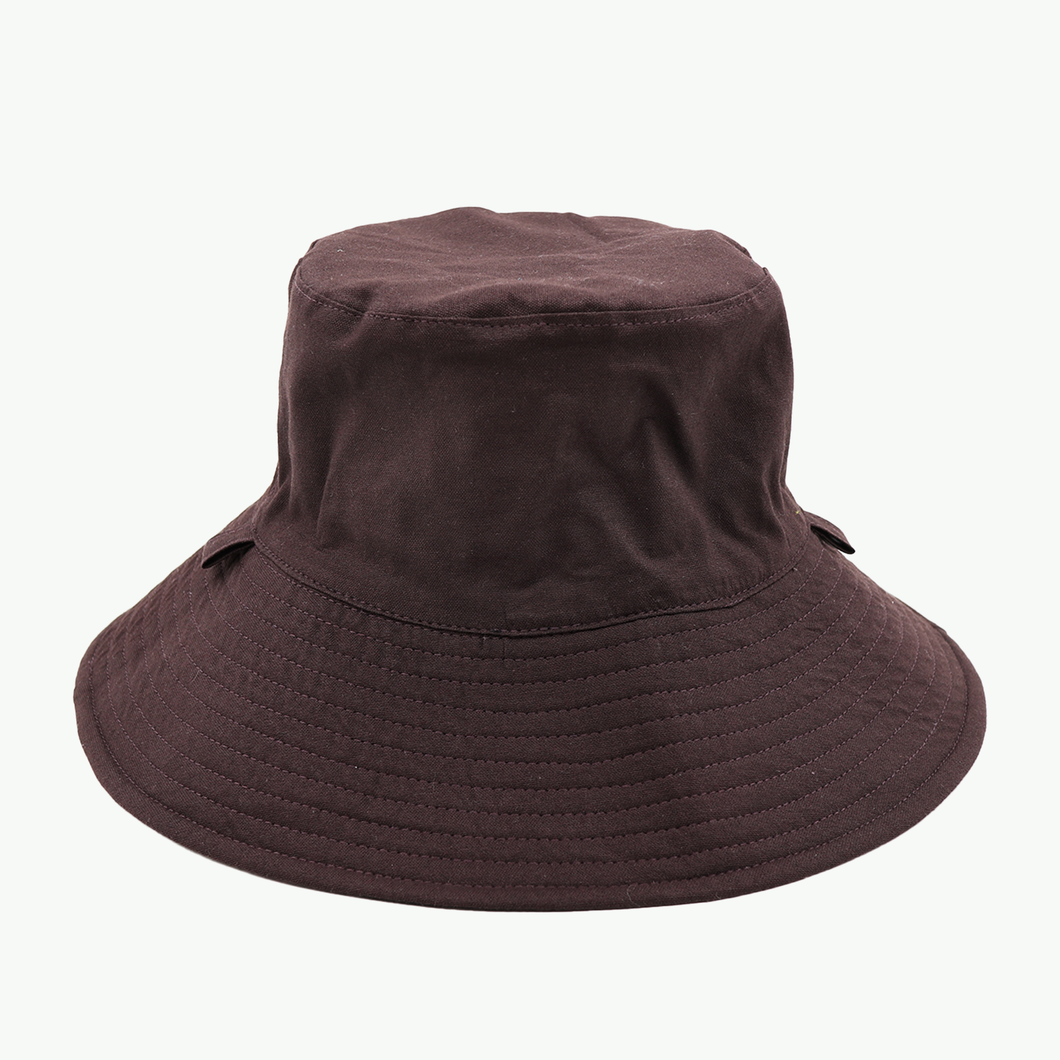Plain Colour Chestnut/Black Broadbrim Hat