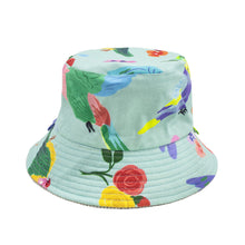 Load image into Gallery viewer, 'Birds of Paradise' Corduroy Kid Bucket Hat
