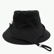 Load image into Gallery viewer, Plain Colour Navy/Black Broadbrim Hat