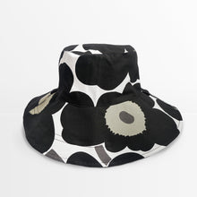 Load image into Gallery viewer, Marimekko Unikko Extrawide-Brim Hat (Black)