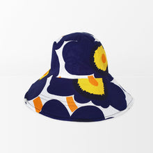 Load image into Gallery viewer, Marimekko Unikko Extrawide-Brim Hat (Blue)