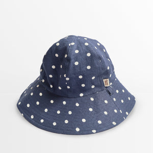 'Polka Dot' Pure Linen Floppy Hat
