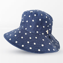 Load image into Gallery viewer, 'Polka Dot' Pure Linen Broadbrim Hat