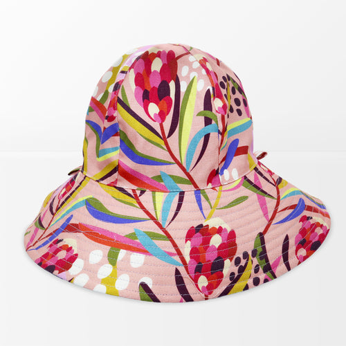 'Abstract Protea' Floppy Hat