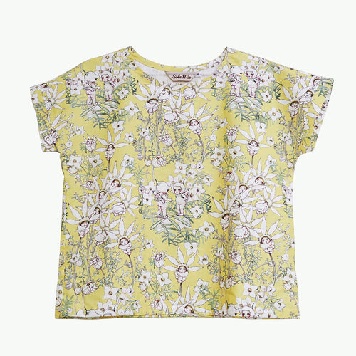 'May Gibb's Flannel Flower Babies' Relaxed Boxy Top