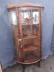 Bow Front China Cabinet #17105
