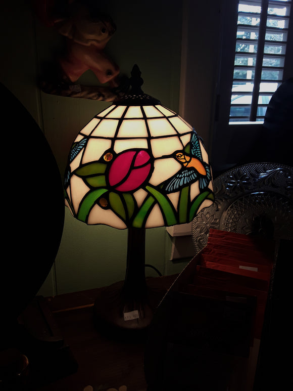Stained Glass Lamp with Hummingbird (15