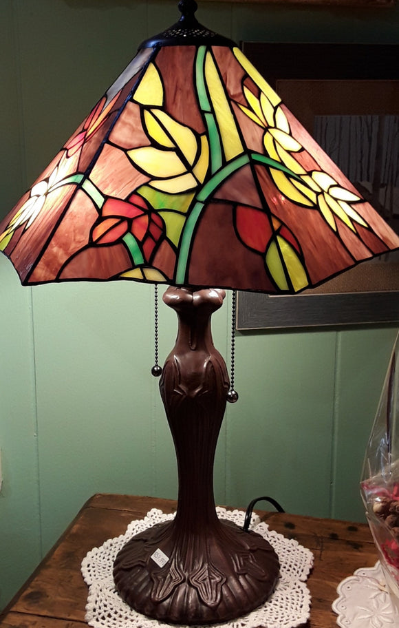 Floral Stined Glass Lamp