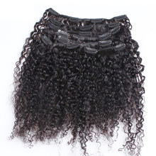Load image into Gallery viewer, Mongolian Kinky Curly Clip-Ins  Remy Human Hair Natural - Two-One-Fifth Co.