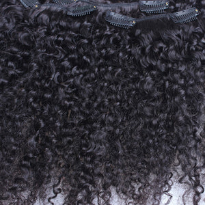 Mongolian Kinky Curly Clip-Ins  Remy Human Hair Natural - Two-One-Fifth Co.