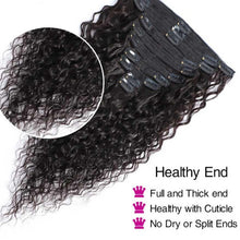 Load image into Gallery viewer, Catch The Water Wave Clip In Remy Human Hair Natural Black 8Pcs/Set 120G - LUXE215