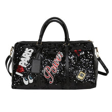 Load image into Gallery viewer, Sequin large crossbody travel bag - LUXE215