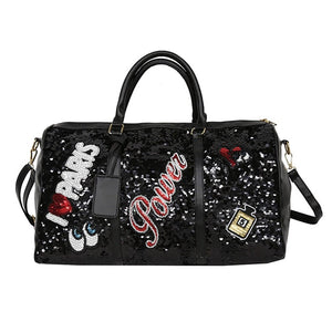 Sequin large crossbody travel bag - LUXE215