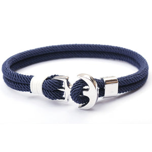 Sailor Rope Bracelet w/ Anchor Hardware - LUXE215