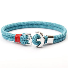Load image into Gallery viewer, Sailor Rope Bracelet w/ Anchor Hardware - LUXE215