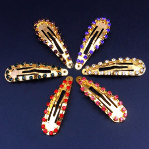 Glitter Colorful Rhinestone Snap Hair Clip - Two-One-Fifth Co.
