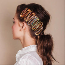 Load image into Gallery viewer, Glitter Colorful Rhinestone Snap Hair Clip - Two-One-Fifth Co.
