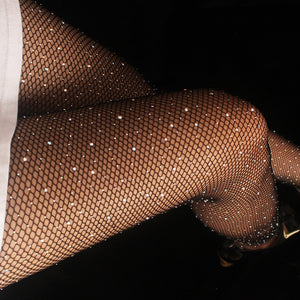 Sexy Women's Rhinestone & Diamond Fishnet Tights - LUXE215