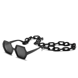 Chic Vintage Hexagon Chain Sunglasses - Two-One-Fifth Co.