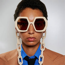 Load image into Gallery viewer, Chic Vintage Hexagon Chain Sunglasses - Two-One-Fifth Co.