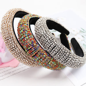 Luxuryt Colorful Bling Bling Rhinestone Padded Headbands - LUXE215