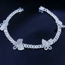 Load image into Gallery viewer, Cuban Chain Butterfly Rhinestone Choker Necklace - Two-One-Fifth Co.