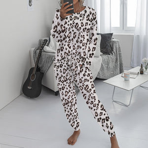 Women Pajamas Casual Leopard Print 2-piece Set - Two-One-Fifth Co.
