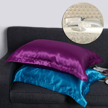 Load image into Gallery viewer, Queen Standard Imitation Silk Satin Pillow Case Multi Colors - LUXE215