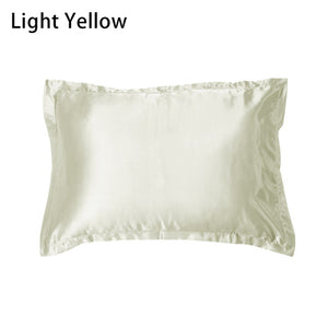Queen Standard Imitation Silk Satin Pillow Case Multi Colors - LUXE215