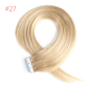 "Tape-In Remy Human Hair Extensions 18"" 20"" 22""  Color 1B/613/27/4 - LUXE215"