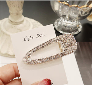 Luxury Full Crystal Waterdrop Square Hair Clip - Two-One-Fifth Co.
