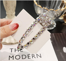 Load image into Gallery viewer, Luxury Full Crystal Waterdrop Square Hair Clip - Two-One-Fifth Co.