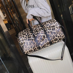 Women Sling Shoulder Crossbody  Leopard Crossbody Travel Bag - LUXE215