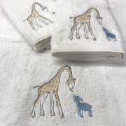 Pilbeam Jiggle & Giggle Giraffe Baby Embroidered 3 Face Washer Pack