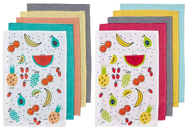 Ladelle Frutti Kitchen Towels - Set of 5