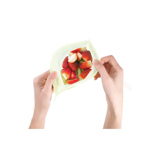 Set of 2 Reusable Silicone Food Storage Bags
