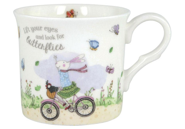 Ashdene Ruby Red Shoes Butterflies Mug