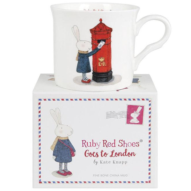Ruby Red Shoes London Post Box Wide Flare Mug