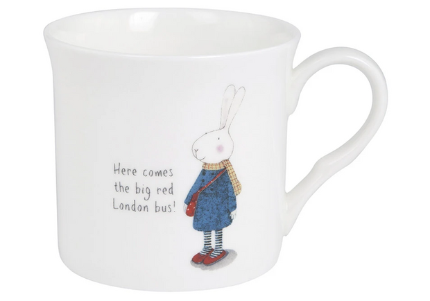 Ruby Red Shoes London Red Bus Wide Flare Mug