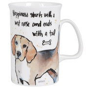 Ashdene Think Pawsitive Beagle Mug