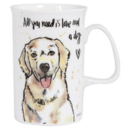 Ashdene Think Pawsitive Golden Retriever Mug