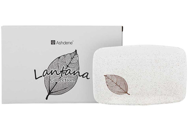 Ashdene Lantana Natural Charcoal Serving Tray - 21cm