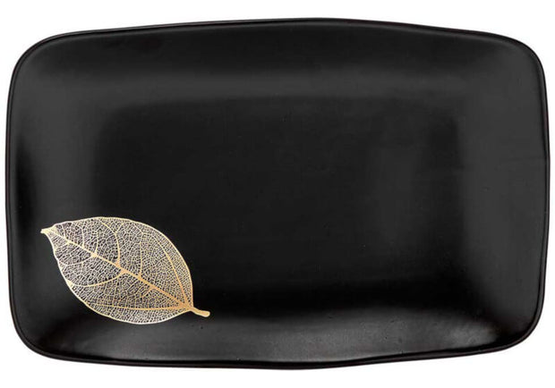 Ashdene Lantana Black & Gold Serving Tray - 34cm