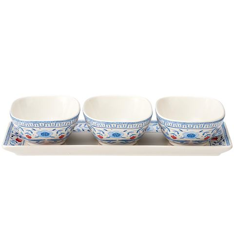 Ashdene Paloma 3pc Bowl & Tray Set