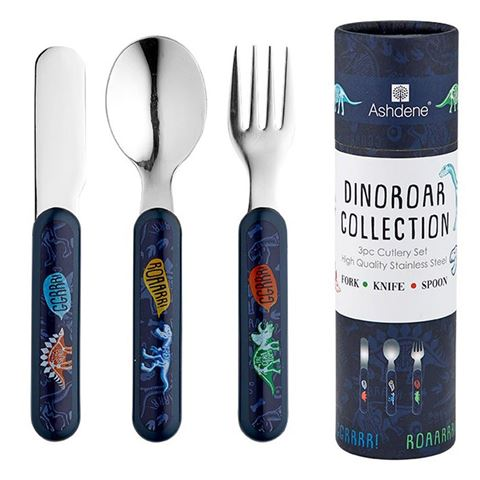 Ashdene Kids Dinoroar 3 Piece Cutlery Set