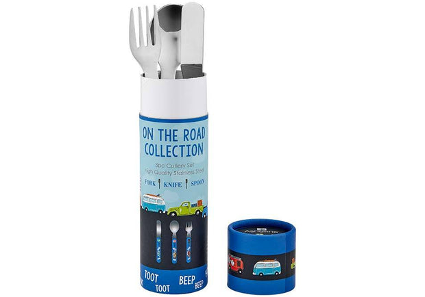 Ashdene Kids On The Road 3 Piece Cutlery Set