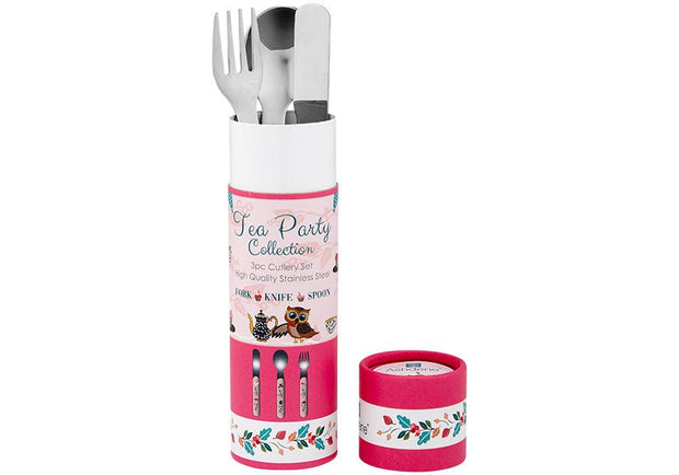 Ashdene Kids Tea Party 3 Piece Cutlery Set