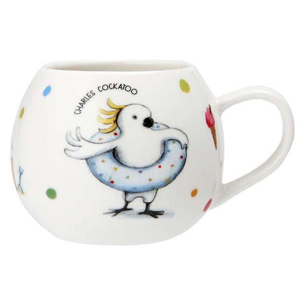 Summer with Barney Cockatoo Mug