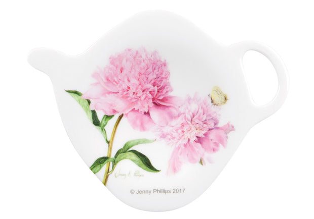 Ashdene Pink Peonies Tea Bag Holder